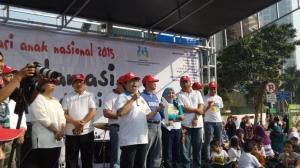 KPPA dan BNN Peringati Hari Anak Nasional di Car Free Day