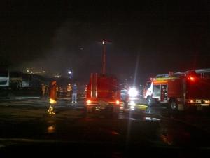 Bus Transjakarta yang Terbakar Sedang di Karantina