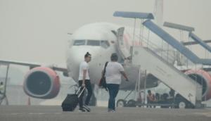 Hindari Kabut Asap, Garuda Delay di Balikpapan