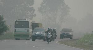 Kabut Asap Selimuti Langit Sumatera