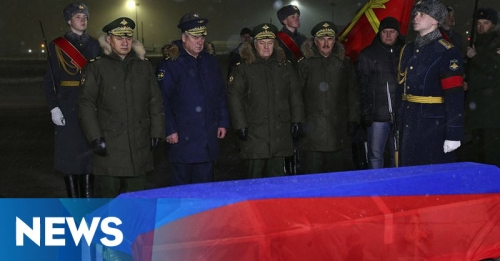Jenazah Pilot Sukhoi yang Ditembak Jatuh Turki Tiba di Rusia