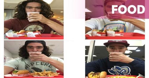 Netizen Heboh Pria Selfie dengan Burger