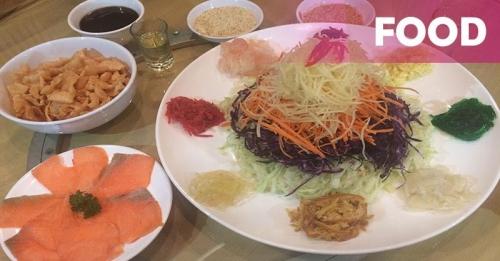 Sajian Yu Sheng di Restoran Chinese Modern