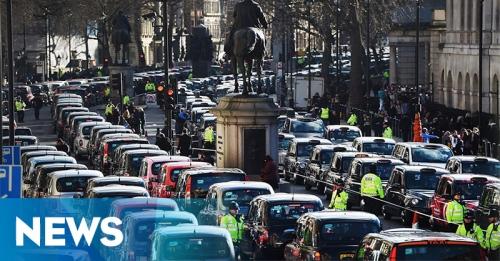 Memprotes Uber, 8.000 Taksi Lumpuhkan Jalanan London