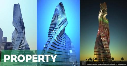 Dynamic Tower, Gedung Pencakar Langit Berputar Pertama Dunia