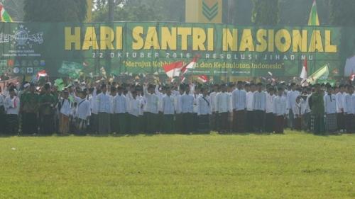 Peringati HSN, 40.000 Santri di Jombang Gelar Apel Akbar