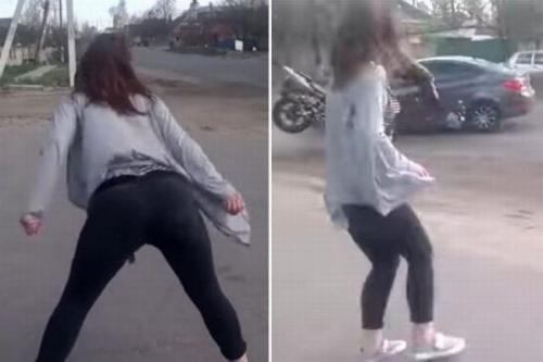 VIDEO: Duh, Goyangan Perempuan Ini Picu Kecelakaan di Jalanan Ukraina