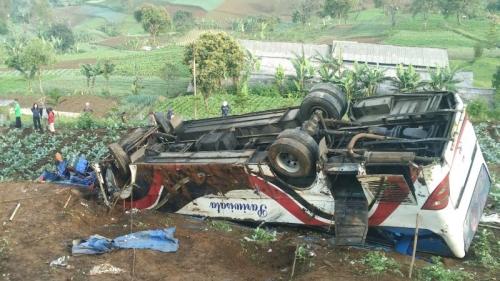 Polisi Ralat Jumlah Korban Tewas Bus Maut Ciloto Jadi 11 Orang