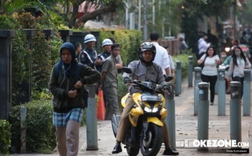 Trotoar di Jakarta Pusat Disalahgunakan, Polisi: Kalau Masih Ngeyel Kita Tindak!