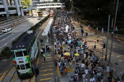 Warga Hong Kong Unjuk Rasa Menuntut Pembebasan Aktivis Pro-Kemerdekaan