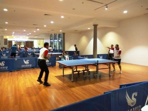 Keren! Final Turnamen Tenis Meja Korem 052/Wijayakrama dan MNC Group Disesaki Warga