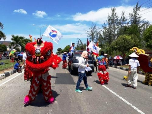 Serunya, Barongsai Perindo Bangka Belitung Semarakkan HUT Ke-72 RI
