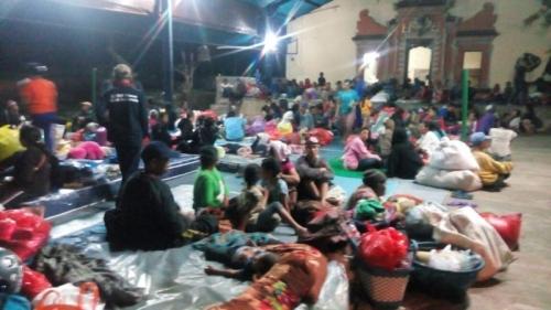 Update! Jumlah Pengungsi Gunung Agung Kini Mencapai 43.036 Orang