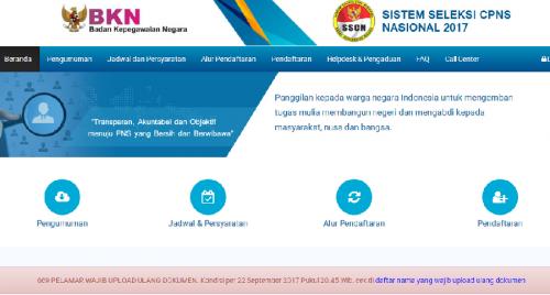 Ada 669 Pelamar CPNS Wajib Upload Ulang Dokumen, BKN: Jika Tak Dilengkapi Dianggap Gagal