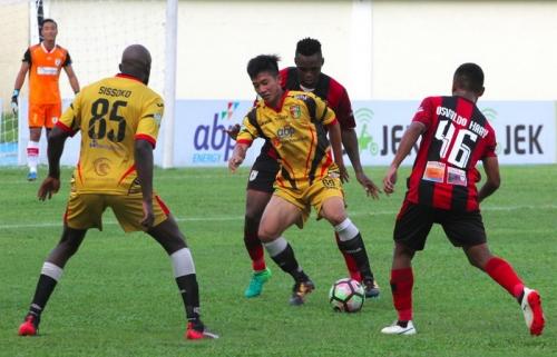 Ingin Balas Dendam, Mitra Kukar Justru Dihancurkan Persipura 0-5