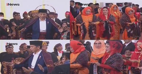 Presiden Joko Widodo dan Iriana Dilempar Beras Kuning saat Manortor, Apa Maknanya?