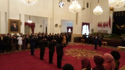 Jokowi Resmi Lantik Idrus Marham, Moeldoko, Marsekal Yuyu dan Agum Gumelar