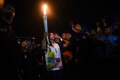 Pesta Rakyat Semarakkan Kirab Obor Pertamina
