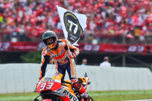 Marquez Tetapkan Diri sebagai Raja Sirkuit Sachsenring