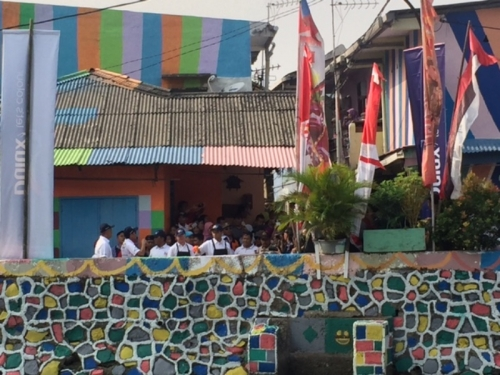 Sambut Asian Games 2018, Kampung Tematik Warna-Warni di Kemayoran Diresmikan