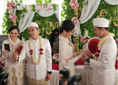 Sempat Tak Direstui, Kini Beredar Foto Pernikahan Eza Gionino dan Meiza Coritha